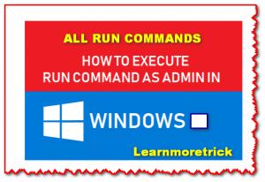 All RUN Command List for Windows