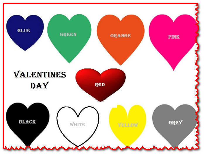 Valentine's day Dress color code and their meaning