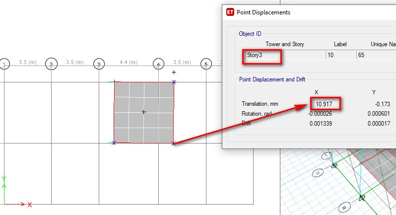 Check for Torsional Irregularity in Etabs